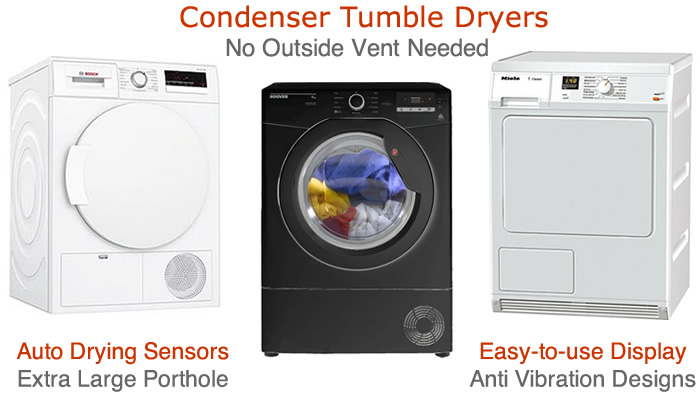Compare condenser tumble dryers prices find large load dryers with drying sensors